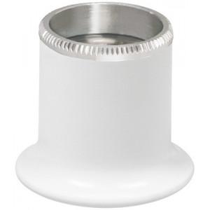 Micros en matière synthétique blanc No 2,5, grossissement 4 x