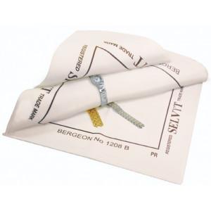 Tissu Selvyt PR en coton couleur chamois, 13 x 13 cm