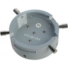 Porte-mouvement spécifique ETA 251.2XX, calibre 13 1/4''', en aluminium anodisé