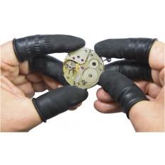 Doigtiers ESD antistatique en latex noir sans poudre  taille S (ø 15 mm) en paquet de 144 pièces