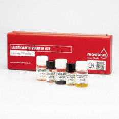 Assortiment de 5 lubrifiants MOEBIUS pour montres à quartz