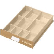 Tiroir à glissière avec 10 casiers, 300 x 460 x 80 mm
