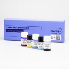 Assortiment de 5 lubrifiants MOEBIUS pour montres mécaniques