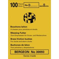 Bouchon à chasser en laiton, pour réveils, pendules et régulateurs, No B0, en paquet de 100 pièces