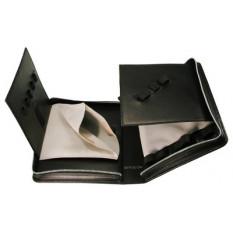 Trousse en cuir noir