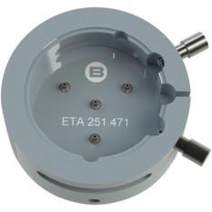 Porte-mouvement spécifique ETA 251.471, calibre 10 1/2''', en aluminium anodisé