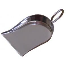 Petite pelle pour pierres, en laiton nickelé env. 55 x 40 mm, avec anneau