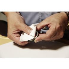 Tissu en microfibre blanc, extra-doux, 240g/m2, 75% polyester, 25% polyamide, 120 x 120 mm, en paquet de 20 pièces