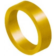 Bague d'identification jaune, en aluminium anodisé, Ø 0.80 mm