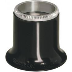 Micros en matière synthétique noir No 1,5, grossissement 6,7 x