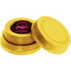 Huilier en matière synthétique jaune, Ø 34 mm avec godet en verre teinté, Ø 12 mm