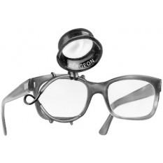 Loupe à gauche pour lunettes ARY standard No 2,5, grossissement 4 x