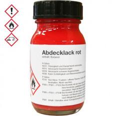 Vernis de protection rouge, pour tous travaux de galvanisation, 100 ml