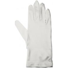 Gants en microfibre, couleur blanc, taille S