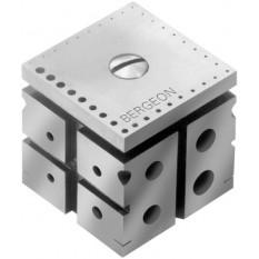 Enclume en acier, 40 x 40 x 40 mm, 52 trous de Ø 0.30 à 10 mm