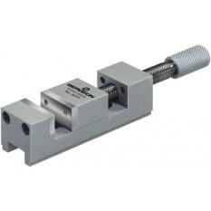 Mini étau de précision en laiton chromé, plaquettes en acier rectifié, ouverture jusqu'à 15 mm