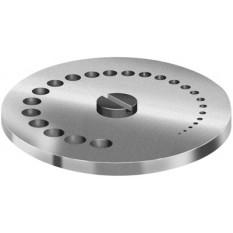 Table revolver en acier trempé rectifié, Ø 50 mm, à 25 trous de Ø 0.2 mm à 5 mm
