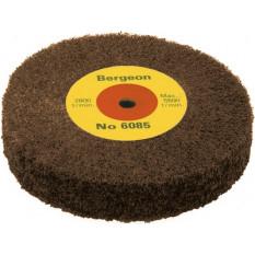Brosse abrasive en oxyde d'aluminium brun, Ø 100 mm, épaisseur 20 mm, trou Ø 6.00 mm grain très fin