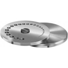 Table complète en acier trempé rectifié, Ø 50 mm, à 25 trous de Ø 0.2 mm à 5 mm