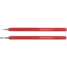 Paire de leviers pour viroles, avec manche en plastique rouge, largeur 1.8 mm