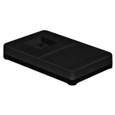 Socle de table seul noir, 265 x 165 x 42 mm, pour pied de 60 x 60 mm