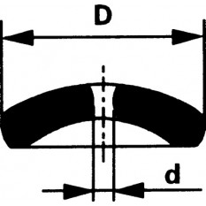 Pierre de balancier, Ø int. 0.13 mm, Ø ext. 1.70, en paquet de 3 pièces