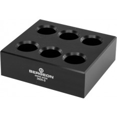 Socle pour 3 pinces, en matière synthétique POM-C, noir, 120 x 115 x 20 mm