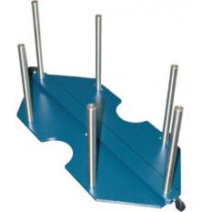 Bras avec support pour 6 boîtes plastiques 6818-05, 6818-10