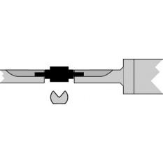 Paire de touches, en métal dur, pour micromètres,mètres Ø 2.00 mm