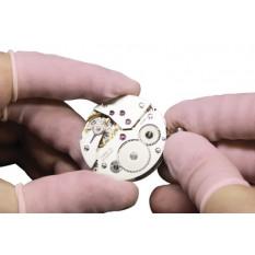 Doigtiers rose en latex sans poudre pour salle blanche taille L (ø 21 mm) en paquet de 144 pièces