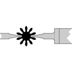 Paire de touches, métal dur, Ø 2.00 mm