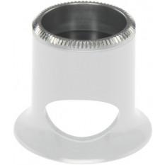 Micros en matière synthétique blanc, avec trou, No 1,5, grossissement 6,7 x