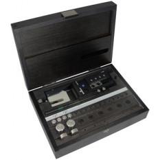 Dispositif à perforer les bracelets-cuir, pour des trous de Ø 1.60 et 2.00 mm, en coffret bois