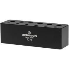 Socle pour 6 tournevis et 6 tubes de mèches de rechange , noir, en matière synthétique POM-C, 98x30x30mm