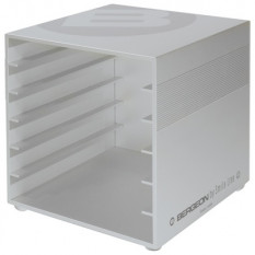 B-cube, nest of drawers in massive aluminium, empty, that may receive 6 drawers